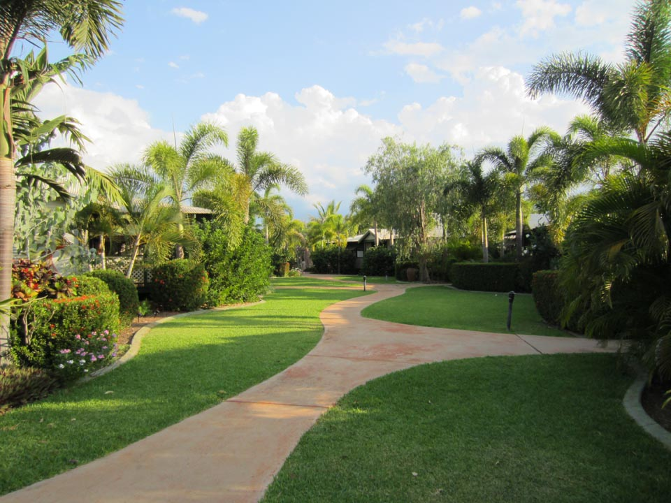 Path through the resort